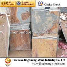 rusty slate paving stone