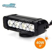 New products 2014 single row 10-60V dc 40W CREE chip jeep offroad led strobe light bars