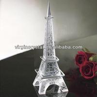 Beautiful Eiffel Tower 3D Crystal Building Model Souvenir