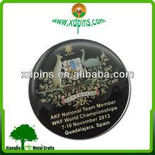 printing australia&spain world championships metal badge