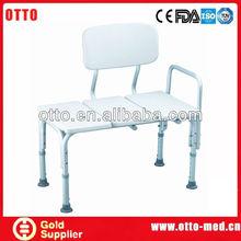 Aluminum transfer shower bench