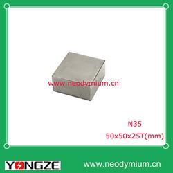 N35 rare earth neodymium block magnet 50*50*25