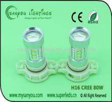 High power Auto lamp h16 80w led headlight fog lamp auto led