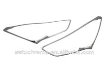 Car Accessory Chrome Head Light Cover for Hyundai Santa Fe 2013
