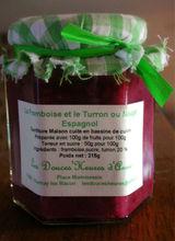 Jam the Raspberry and Turron or Spanish Nougat 215g