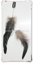 black chicken tail feather for head hair extension