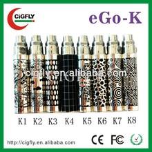 Vaporizer cigarette wholesale top seller ego-k bttery 1100mah