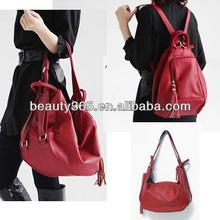 New Fashion Multi Function PU Leather Backpack Handbag Shoulder Bag 2Colors