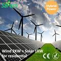 3kw casa del vento solare sistema ibrido di alimentazione