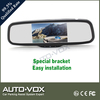 PAL/AUTO/NTSC Signal System car rear view mirror monitor with dual video inputs
