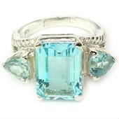 Blue topaz jewellery, Jewels gold, Gemstone rings uk