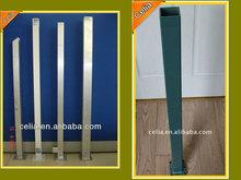 Galvanized fencing tube,Rectangular fence post,Decorative square galvanized fence posts