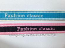 Fashion custom polylester jacquard webbing for garment