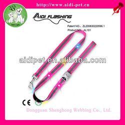 Rotatable soft colorful dog dog woven leash