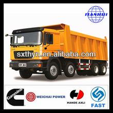 La venta caliente! Shacman d- largo f2000 8x4 camiones volquete mejor que isuzu camión de volteo para la venta