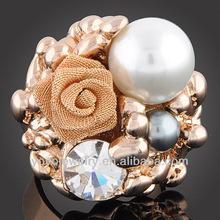 Fashionable thailand gold jewellery biker ring bead jewelry