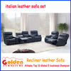 EA102# Foshan Modern living room furniture genuine leather reclining loveseat sofa