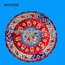 Fashion colorful custom round Porcelain Plate