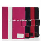 Flip cover case for ipad 5 stand with multiple angles premium leather case for ipad 5 made in china Dongguang