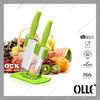 2pcs Beautiful Green Handle Ceramic Knives Set with Block