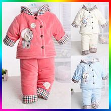 tc5222 wholesale winter clothes 2014 latest design soft warm new born clothes set