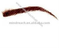 Stock 100% human hair false eyebrow all hand tied accept escrow payment