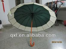 2014 wooden shaft straight golf umbrella
