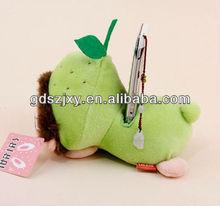 wholesale lovely animal plush soft cell phone holder