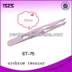 Eyebrow Tweezers SLANTED Precision Tip 3 HOLE Design Tweezer