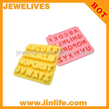 alphabet design silicone rubber ice trays
