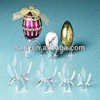 Flower shape acrylic egg stands