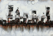 Hotsale hand painted abstract city pop art oil painting