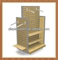 Popular comercial loja de varejo 4-sided cabide de metal vestuário / cremalheira de exposição de roupas