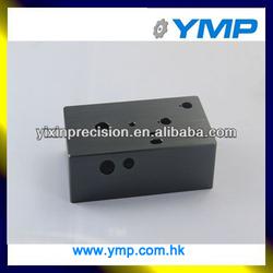 Custom aluminum box with brushing black anodizing CNC machined aluminium parts