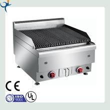 stainless steel desktop gas lava rock grill