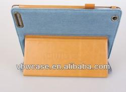 denim for ipad case with stylus holder