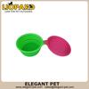 colourful foldable silicone dog bowl 40099,pet travel bowl
