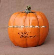 wholesale polyresin fake pumpkin festval pumpkin decoration
