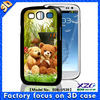 2013 new design 3D phone case for samsung galaxy s3 3d cases