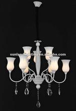 white chandelier, modern pendant lamp AP8016-9