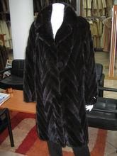Black Mink Fur Coat 3/4 Length