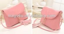 Smooth Texture Pink PU Girls Bag