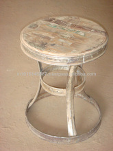 Industrial Stool with Reclaimed Timber Top