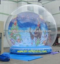 Inflatable Santa christmas snow globe