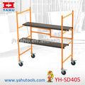 Metallo 4 piedi di rotolamento mini ponteggio 226 kg, capacità di carico
