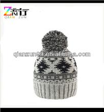 Headwear Windproof Hat Winter Bobble Hat