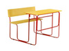 hot sale school tow student desk with chair