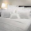 Oking High Thread Combed Cotton Stripe Hotel Duvet Cover Set