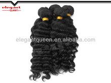 "Grade 5A 3pcs/lot brazilian virgin hair deep wave/curly,12""-30""unprocessed virgin hair natural color"