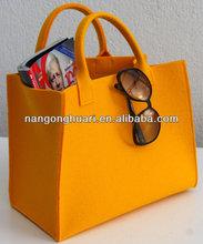 100%polyester felt yellow felt shopping bag
